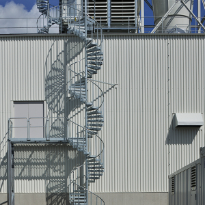 Spiraltrappor exteriört – Siemens Finspång